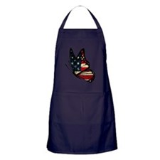 Puerto Rican Flag Butterfly Apron (dark)