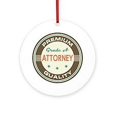 Attorney Vintage Ornament (Round)