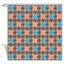 Checkered Plaid Shower Curtain