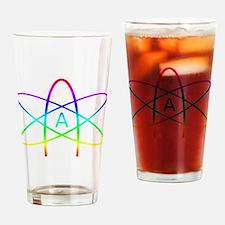 Rainbow Atheist Symbol Drinking Glass