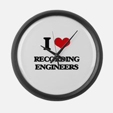 I love Recording Engineers Large Wall Clock