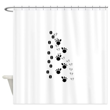 Animal Tracks Silhouette Shower Curtain By