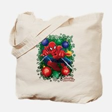holiday spider-man Tote Bag