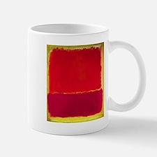 ROTHKO RED PINK YELLOW Mugs