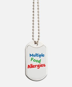 Multiple Food Allergies Dog Tags