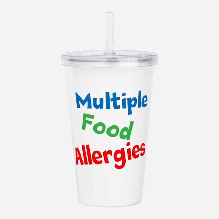 Multiple Food Allergies Acrylic Double-wall Tumble