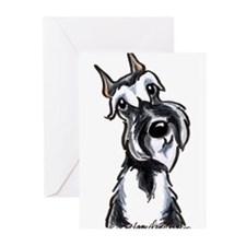 Cute Black and white schnauzer Greeting Cards (Pk of 20)