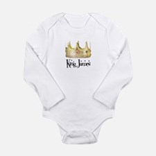 Cute King james Long Sleeve Infant Bodysuit