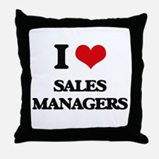 I love Sales Managers Throw Pillow