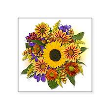 """Autumn Bouquet Square Sticker 3"""" x 3"""""""