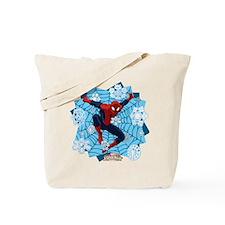 Holiday Spider-Man Web Tote Bag
