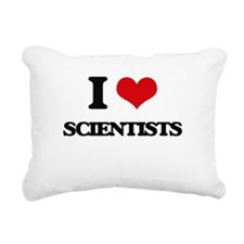 I love Scientists Rectangular Canvas Pillow
