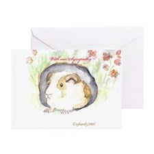 GUINEA PIG Sympathy Card Pkg of 10