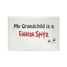 Spitz Grandchild Rectangle Magnet
