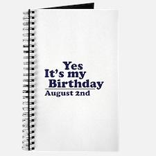 August 2 Birthday Journal