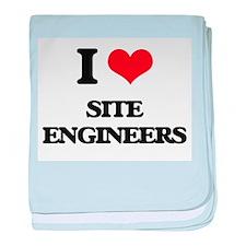 I love Site Engineers baby blanket