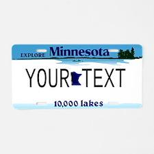 Minnesota Custom Aluminum License Plate