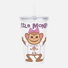 Little Monkey Girl Acrylic Double-wall Tumbler