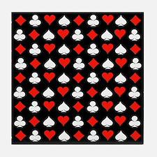 Poker Symbols Tile Coaster
