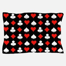 Poker Symbols Pillow Case