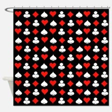 Poker Symbols Shower Curtain