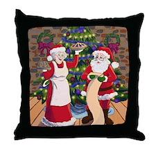A Very Claus Christmas Throw Pillow