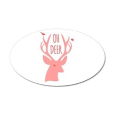 Oh deer, coral Wall Decal