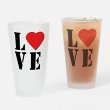 Love Always Drinking Glass