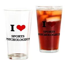 I love Sports Psychologists Drinking Glass