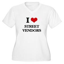 I love Street Vendors Plus Size T-Shirt