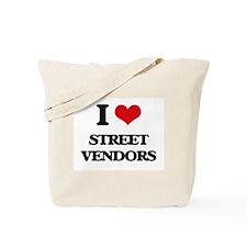 I love Street Vendors Tote Bag