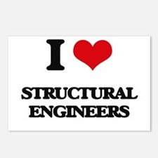I love Structural Enginee Postcards (Package of 8)