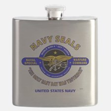 NAVY SEALS THE ONLY EASY DAY WAS YESTERDAY. Flask