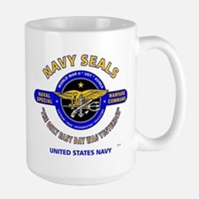 NAVY SEALS THE ONLY EASY DAY WAS YESTER Large Mug