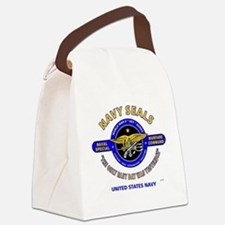 NAVY SEALS THE ONLY EASY DAY WAS  Canvas Lunch Bag