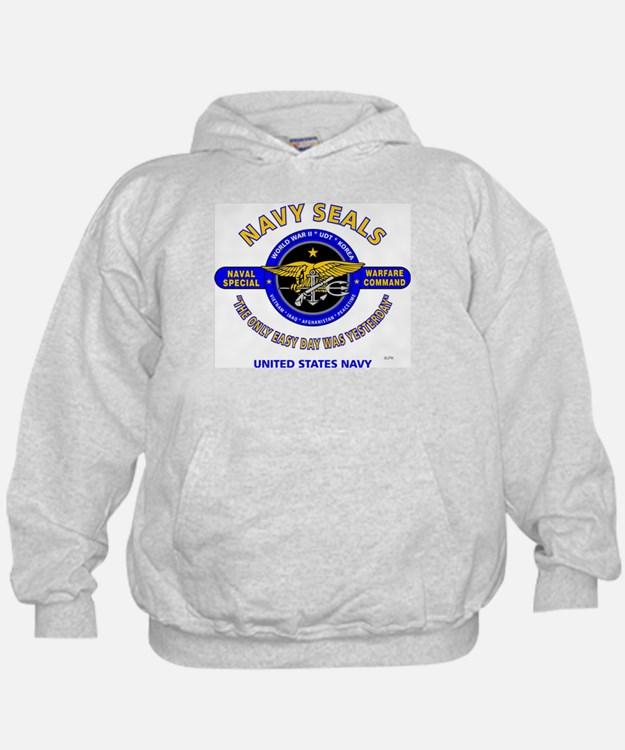 NAVY SEALS THE ONLY EASY DAY WAS YESTE Hoodie