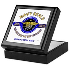 NAVY SEALS THE ONLY EASY DAY WAS YEST Keepsake Box