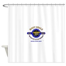 NAVY SEALS THE ONLY EASY DAY WAS YE Shower Curtain