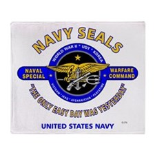 NAVY SEALS THE ONLY EASY DAY WAS YES Throw Blanket