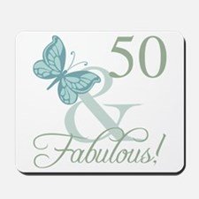 50th Birthday Butterfly Mousepad