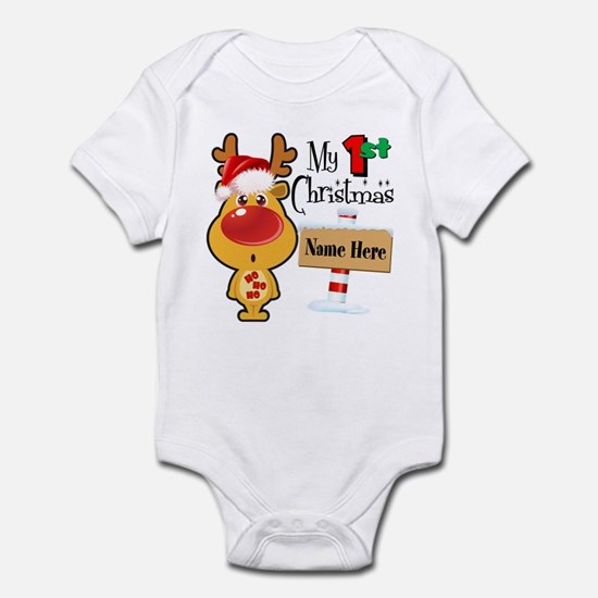 First Christmas Reindeer Infant Bodysuit