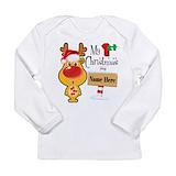 Babys first christmas Long Sleeve Tees
