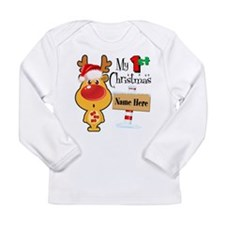 First Christmas Reindee Long Sleeve Infant T-Shirt