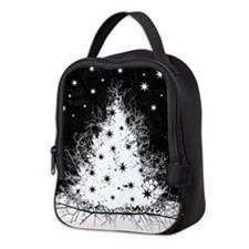 Gothic Branches Christmas Tree Neoprene Lunch Bag