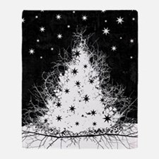 Gothic Branches Christmas Tree Throw Blanket