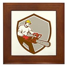 Lumberjack Tree Surgeon Arborist Chainsaw Shield F