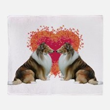 Collie Love Throw Blanket