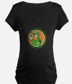 Leprechaun Plumber Wrench Running Circle T-Shirt