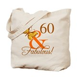 60th birthday for women Canvas Totes