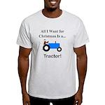 Blue Christmas Tractor Light T-Shirt